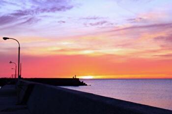 海岸の夕焼け